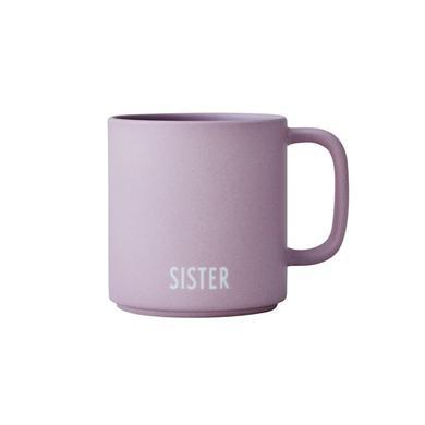 Design Letters Sibling beker, porselein, SISTER, lavendel, 175 ml