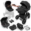 babyGO  carro de bebé Combi Halime 3 en 1 Air Black Anthracite
