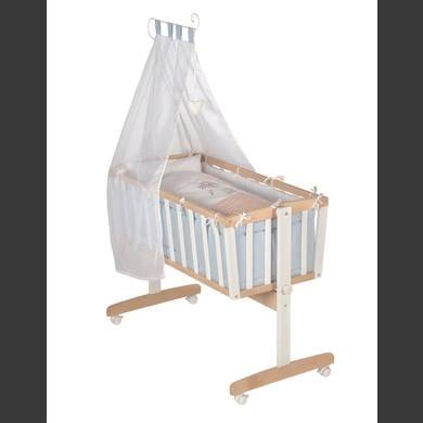 Stubenwagen und Wiegen - roba Komplettwiegenset bicolor Vintage Bear  - Onlineshop Babymarkt