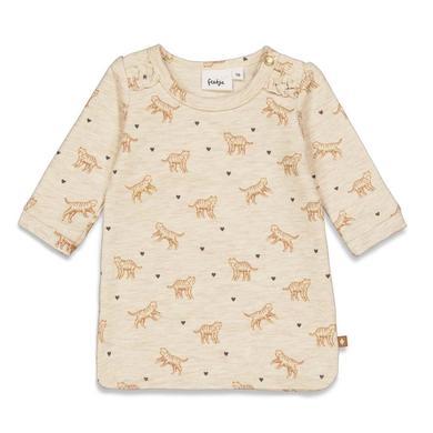 Minigirlroeckekleider - Feetje Sweatkleid Wild At Heart Offwhite Melange - Onlineshop Babymarkt