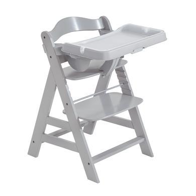 Hochstühle - hauck Hochstuhl Alpha Plus Grey inkl. Esstisch Tray Grey  - Onlineshop Babymarkt