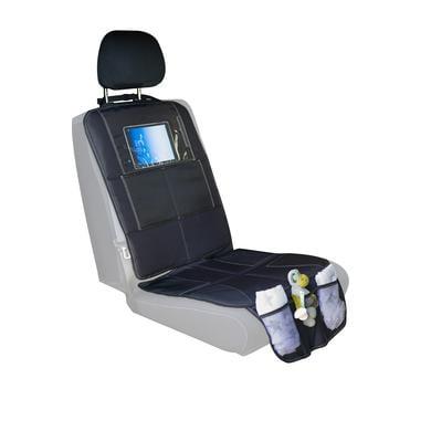 Image of fillikid Autositzunterlage Luxus mit iPad Tasche Schwarz