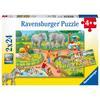 Ravensburger Puzzle 2x24 - Ein Tag im Zoo
