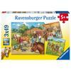 Ravensburger Puzzle 3x49 - Mein Reiterhof