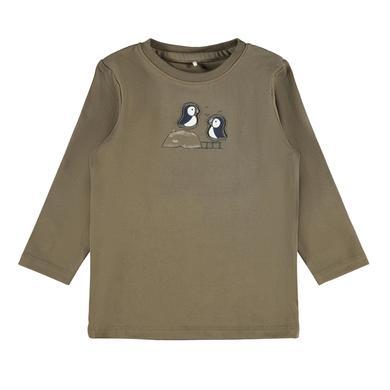 Babyoberteile - name it Langarmshirt Nbmotto Stone Gray - Onlineshop Babymarkt