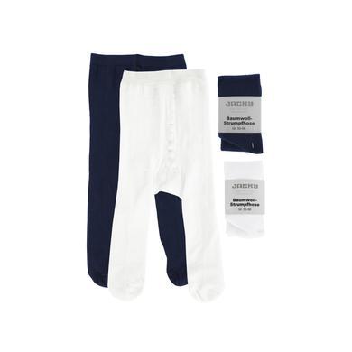 JACKY Strumpfhose 2er Pack weiß/marine