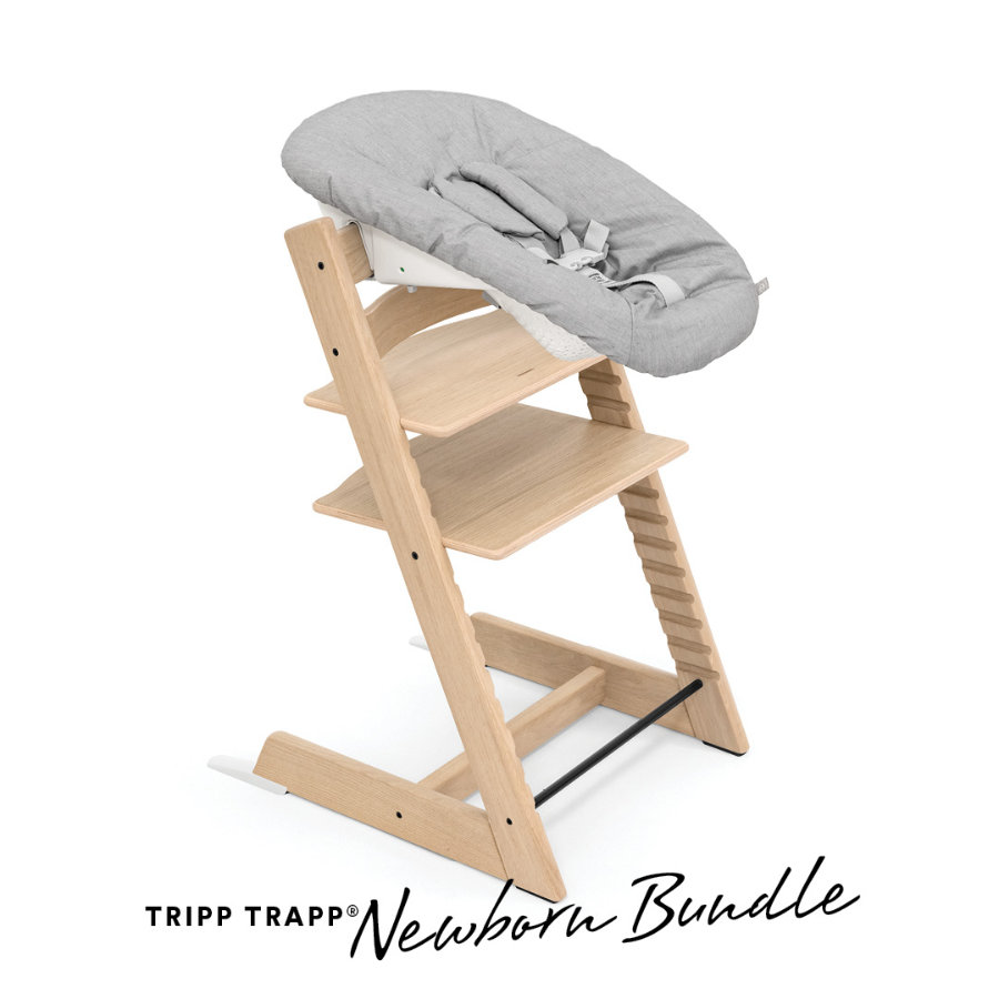 Hochstühle - STOKKE® Tripp Trapp® Hochstuhl Oak natur inkl. Newborn Set™ Grey  - Onlineshop Babymarkt