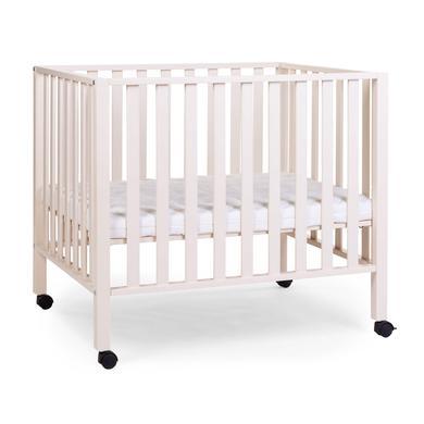 Laufgitter - CHILDHOME Laufgitter 94 alt weiß 75 x 95 cm Räder  - Onlineshop Babymarkt
