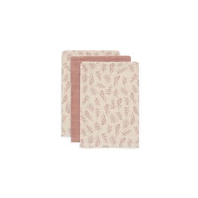 Kindertextilien - jollein Mull Waschlappen 3er Pack Meadow rosewood  - Onlineshop Babymarkt