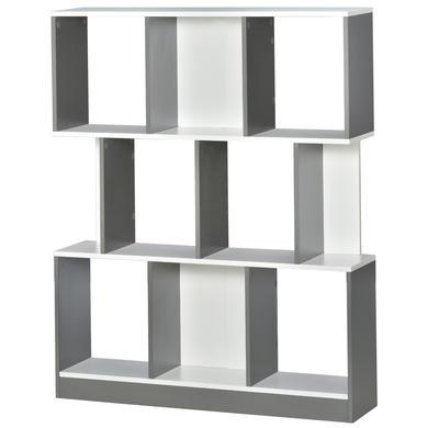 Regale - HOMCOM Bücherregal grau weiß  - Onlineshop Babymarkt