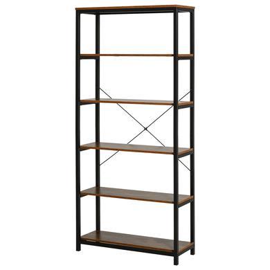 Regale - HOMCOM Bücherregal mit 5 Fächer schwarz, braun  - Onlineshop Babymarkt